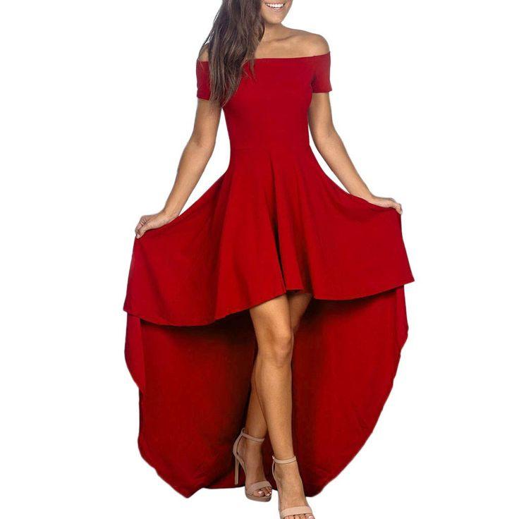 xinantime kleid damen sommer spitze vorne kurz hinten lang
