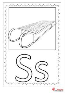 Litera S -Planșă de colorat