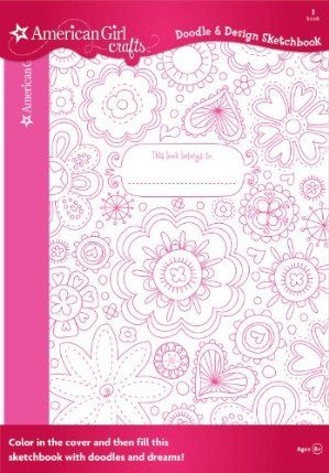 American Girl Crafts Doodle Design Sketchbook, Floral by EK Success. $6.59. Includes 40- blank pages. Draw and decorate pages. Fill your book with your creative drawings and thoughts. Color in the cover. For Ages 8+. From the Manufacturer                Express your personal style with American Girl Crafts.  Pink? Purple? Green? Blue? It�s up to you. Use your colored pencils or markers to color in the shimmering cover of your sketchbook. Then fill your book ...