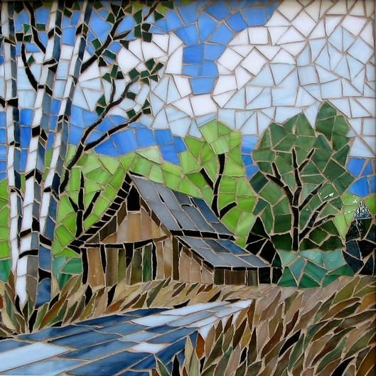 """2009 Mosaics 3rd. Place """"Country Road"""" by Shelly"""