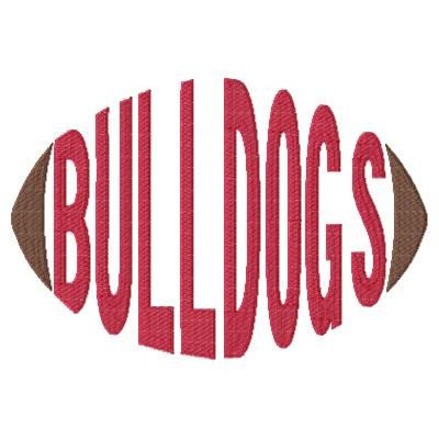 Bulldogs Football Word embroidery design sized for 5x7 and 6x10 hoops - football design - word art - word embroidery - team spirit - spirit towels