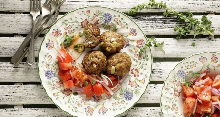 Lamb Feta and Olive Meatballs