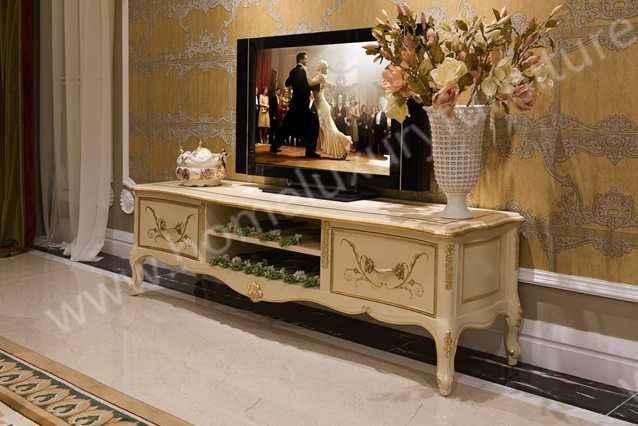 TV stand price Neo Classical Wooden Furniture living room furniture China Supplier FTV-101