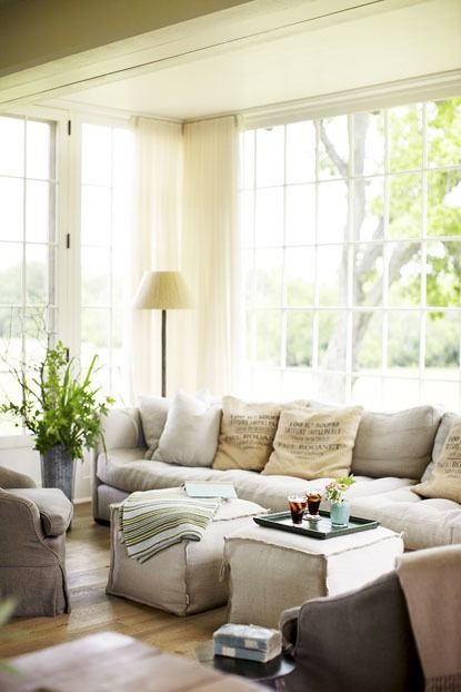 Love the natural light in this room