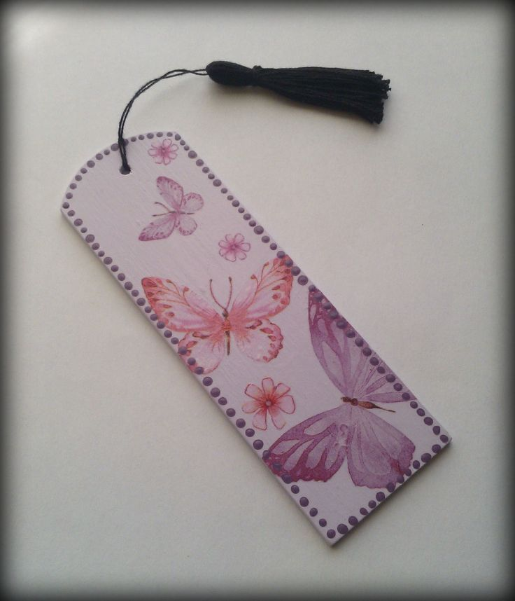 Zakładka do książki w motylki - zdobiona metodą decoupage :)  więcej na mojej stronie na fb (DecoupageGallery) zapraszam! :)
