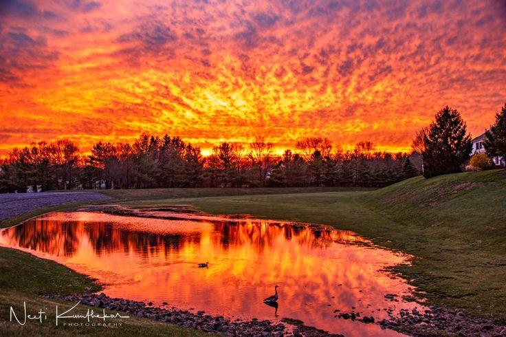 James Spann (@spann) | Twitter  Sunset over Basking Ridge, New Jersey  4 - 2017