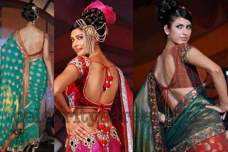 Open Back Saree, Lehenga Blouse Designs by Rohit Verma ...