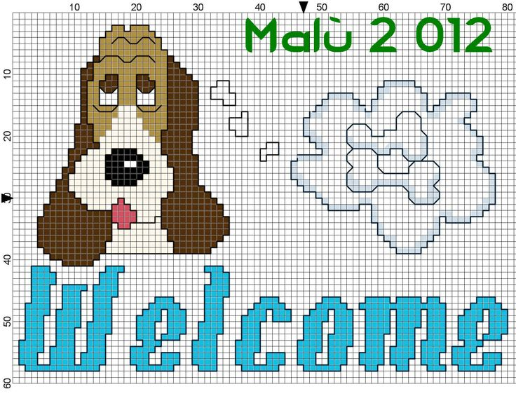 Welcome + cane che pensa ossi