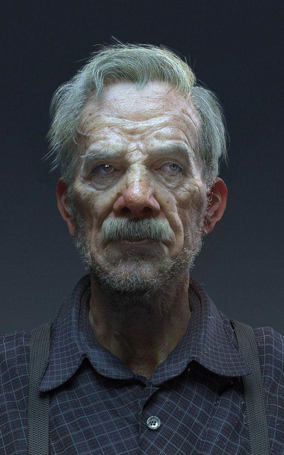 an elderly curmudgeon by Roklywang