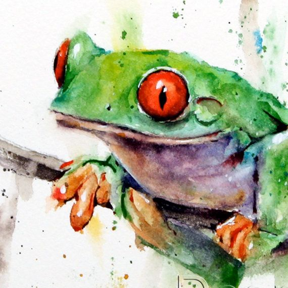 TREE FROG Watercolor Print by Dean Crouser by DeanCrouserArt, $25.00