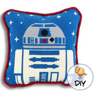 Needlepoint a pair of droids you can hug. | 36 Completely Fucking Awesome DIY Projects