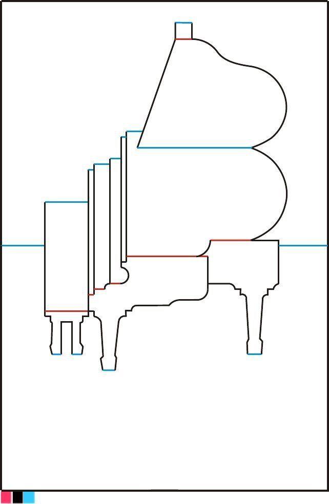Открытка рояль объемная, февраля для