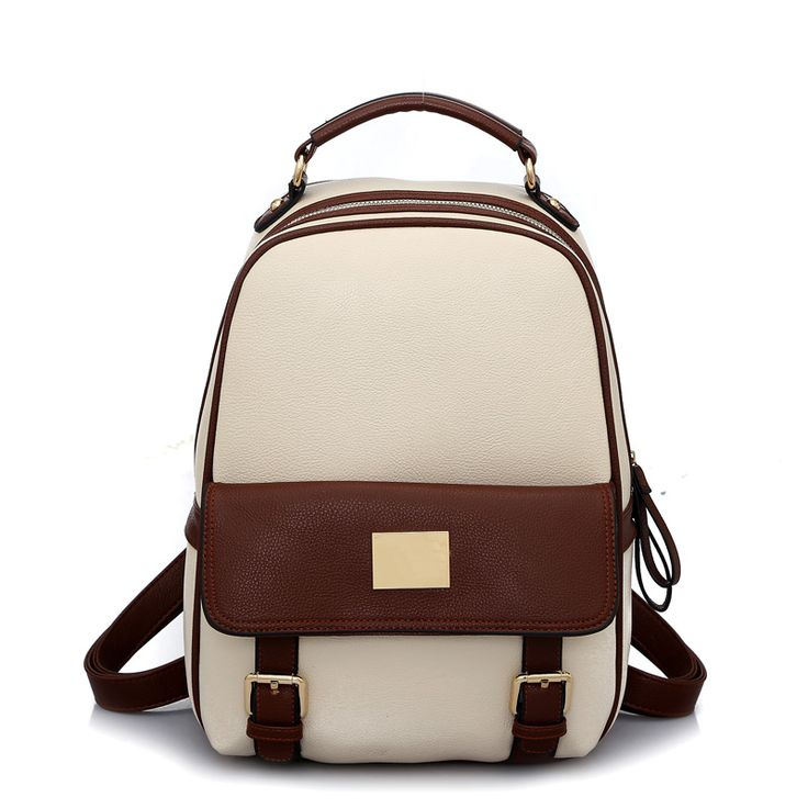 new design korean womenu0027s backpack leather lovely girlu0027s preppy style student bag 4 color bag