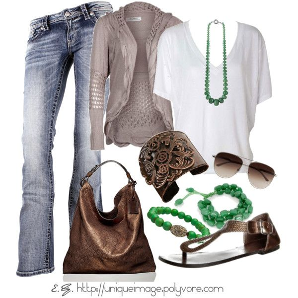 jeans & green
