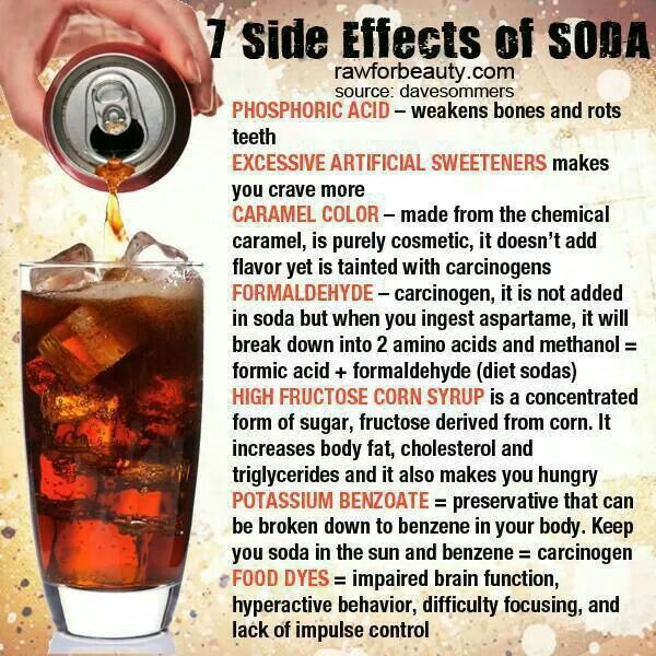 Terrible! They say soda is one of the worst things to put into our body!