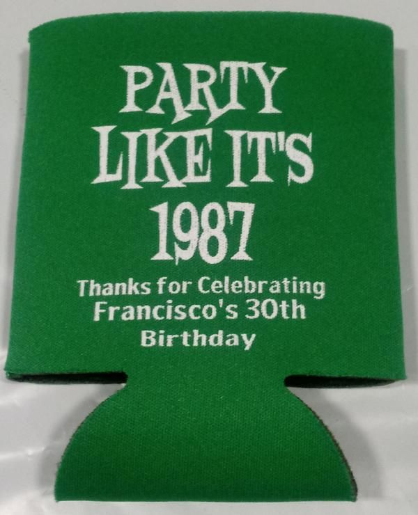 Birthday Koozie Quotes: Party Like Its 1987 30th Birthday Koozie Can Coolers