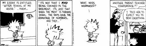 Calvin's poor mother!