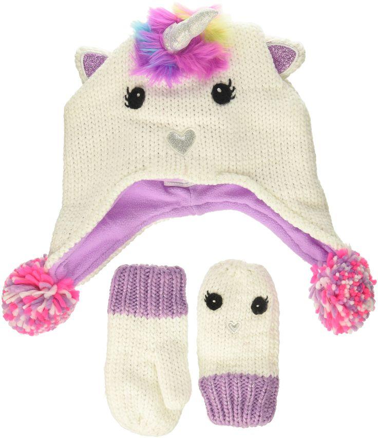 The Children's Place Baby Novelty Hat & Mittens Set, violet twist, S (12-24 MOS)