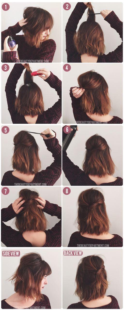 15 Tutoriels Pour Cheveux courts | Coiffure simple et facile