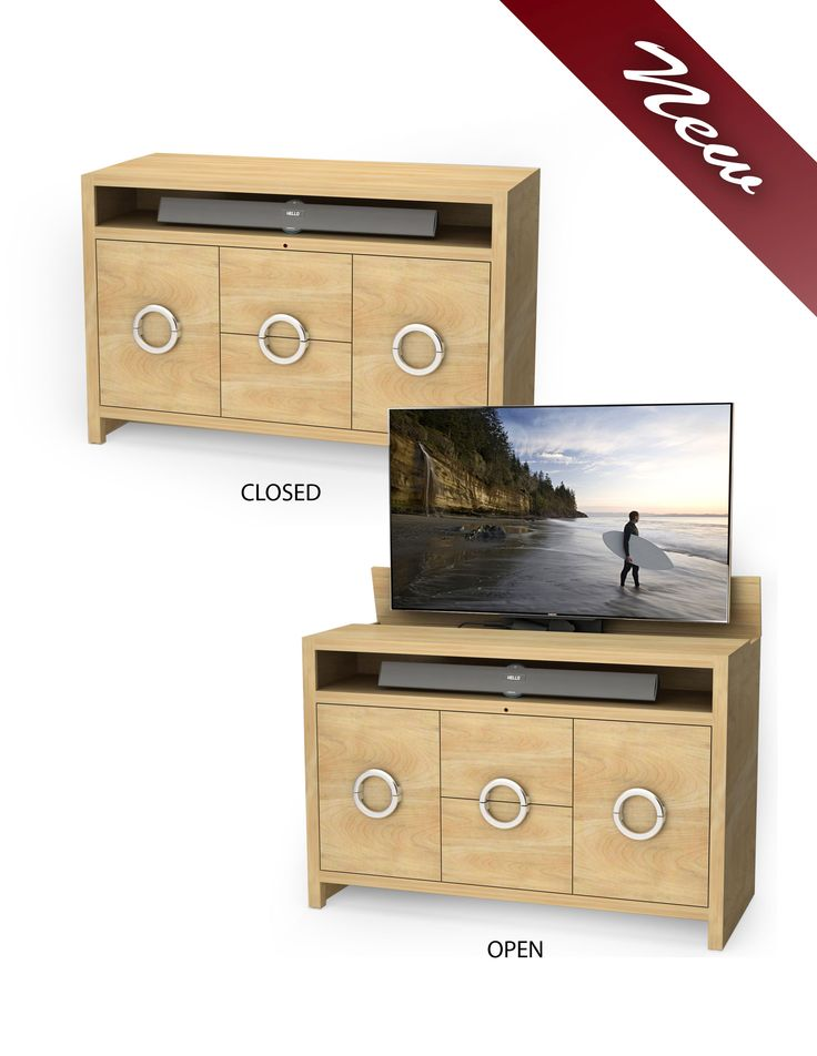 our latest tv lift cabinet raises and lowers your tv at the push of a