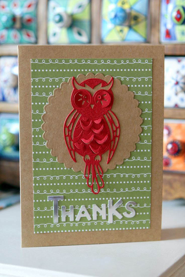 Thank you cards for my daughter's teacher's assistant - Owls Class