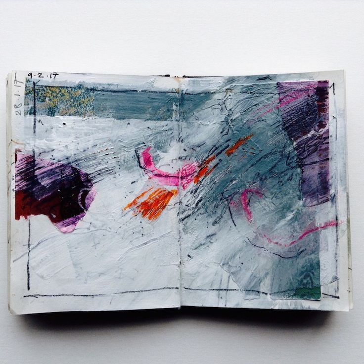 Exploring sketchbooks for abstract art – Alice Sheridan