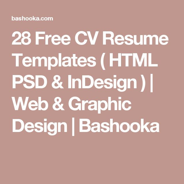 28 Free Cv Resume Templates Html Psd Indesign: 17 Best Ideas About Graphic Design Cv On Pinterest