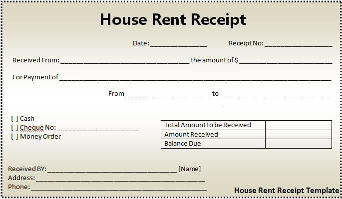 House rent receipt format free word templates Free Word Templates #SampleResume #RentalReceipt