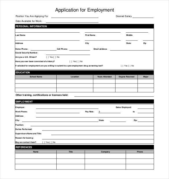 Template Franklinfire Co Work Application Template Templatesfranklinfireco 636b561f Resumesample Resumefor
