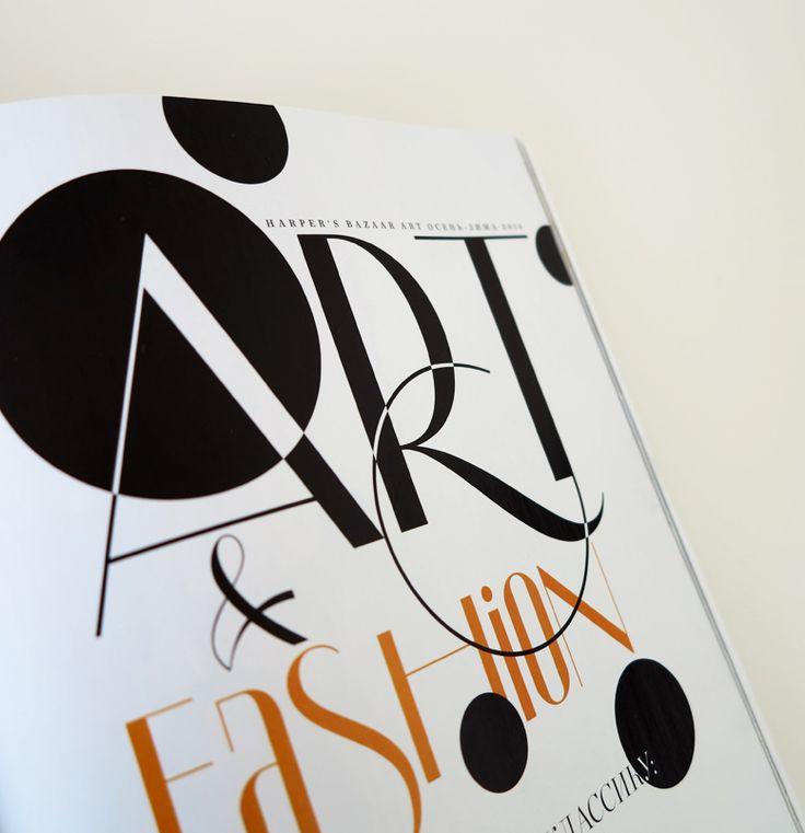 Letterhead   Harper's Bazaar Art   Typeface by Yuri Gordon / / / Шрифт Юрия Гордона по заказу арт-директора Анны Давыдовой.