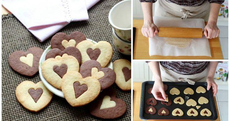 Regala dei biscotti a forma di cuore invece dei fiori!