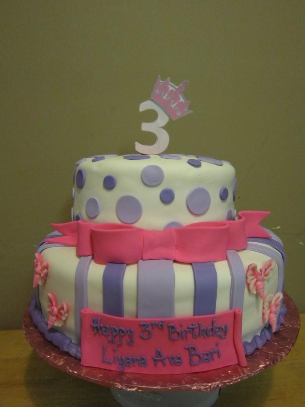 3rd Birthday Cake Nadia S Dolci Cakes Pinterest