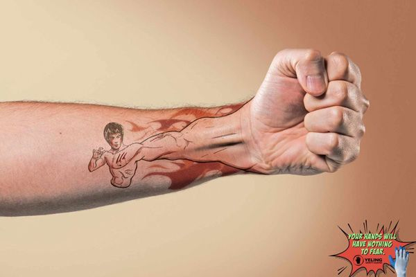 Ads that feature the coolest tattoos you'll ever see