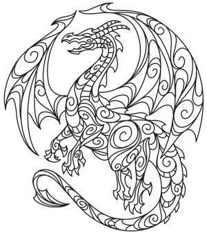 Drachen Mandala Quilling Ausmalen Ausmalbilder Und Malvorlagen
