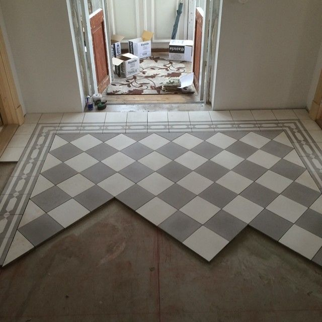 Badrumsgolv Torpet Hall Tiles Tiled Hallway Kitchen