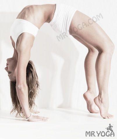 inverted bow pose / urdhva dhanurasana  bow pose namaste