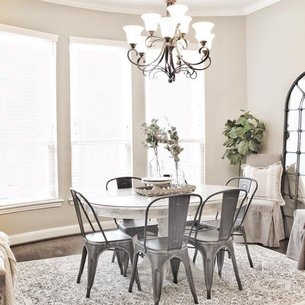Bradding Shadow Gray Round Extension Dining Table White Round
