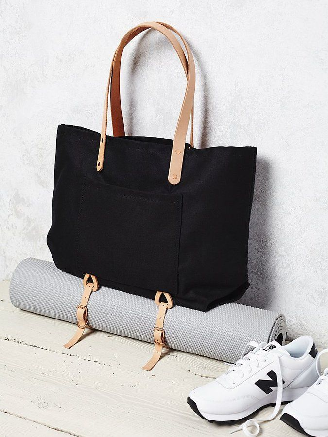 Tote with built in yoga mat straps. The thing I didn't know I needed until I saw it.