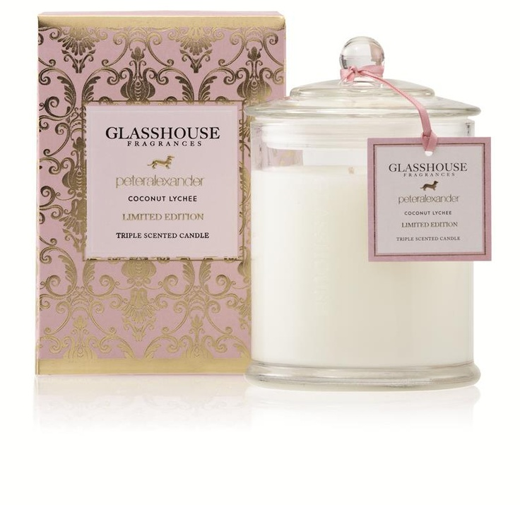 Coconut Lychee Glasshouse Perfumed Candle