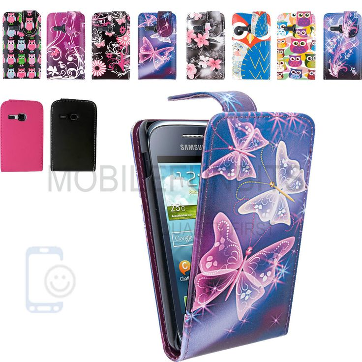 Leather Flip Case Cover Pouch for Samsung S5360 Galaxy Y Young Screen Protector #Samsung