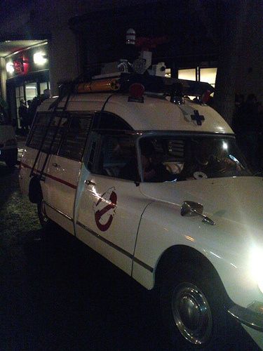 http://www.theestablishingshot.com/search/label/Secret%20Cinema  Secret Cinema : Ghostbusters - Ecto-1 by Craig Grobler, via Flickr