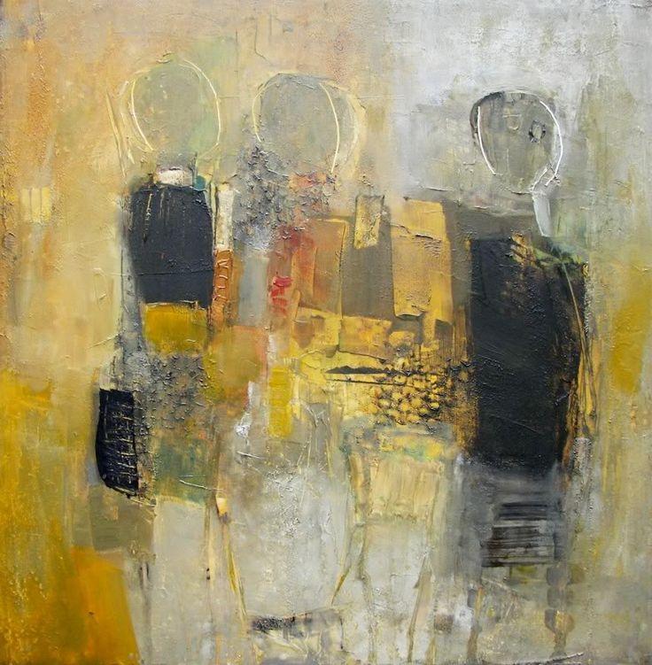 """Abstract Expressionism   ABSTRACT EXPRESSIONISM PAINTINGS: """"THE FOUR BOHEMIANS"""""""