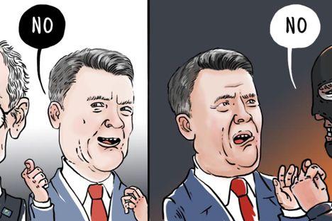 """Los debates sobre la """"elección europea"""" de Ucrania finalizaron con disturbios masivos y una seria agravación de las confrontaciones. El porqué de las cargas policiales contra manifestantes a favor de la Asociación con la UE en la Plaza de la Independencia es incomprensible. Al parecer, comienza un juego de competición con el objetivo puesto en las próximas elecciones presidenciales de 2015."""