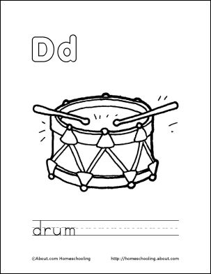 59 Best Letter D Images On Pinterest Coloring Books Colouring Coloring Letter Dd