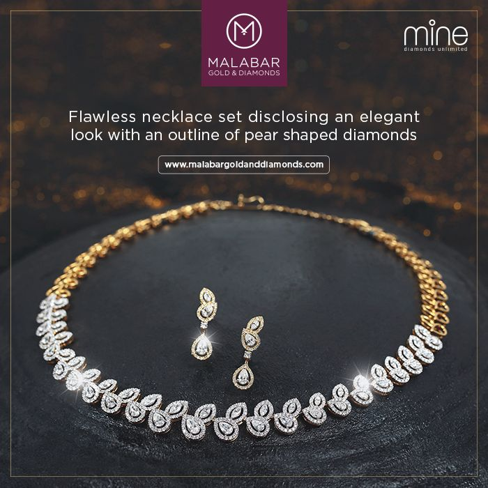 Graceful sparkling collection of diamond jewellery from Malabar Gold and Diamonds.