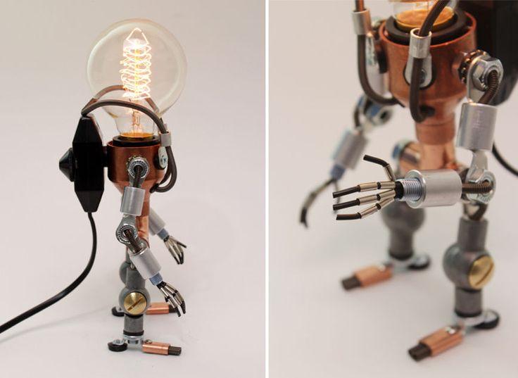 Lampe Robot Ampoule LED Futuriste Variateur Lumiere Ajustable COSMONAUTE | eBay