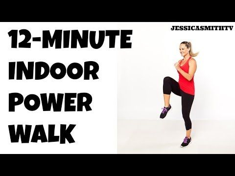 Get a quick energy boost or simply add more steps to your daily total with this free workout vid!  Full Length Walking Workout -- 12-Minute Power Walk At Home | Jessica Smith TV