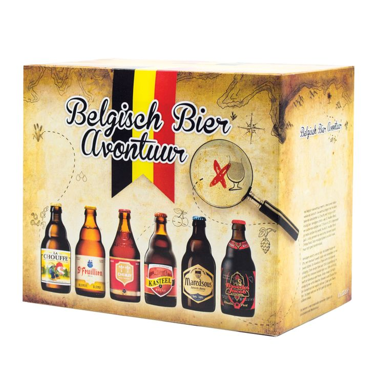 Het Belgische bieravontuur is een praktische geschenkverpakking gevuld met 6 Belgische speciaal bieren. Het avontuur begint met het bekende kabouterbier La Chouffe en eindigt met het bijzondere Portbier van Broeder Jacob. Onderweg passeert u ook nog de St. Feuillien Blond, Chimay Rood, Kasteel Rouge en Maredsous Tripel.