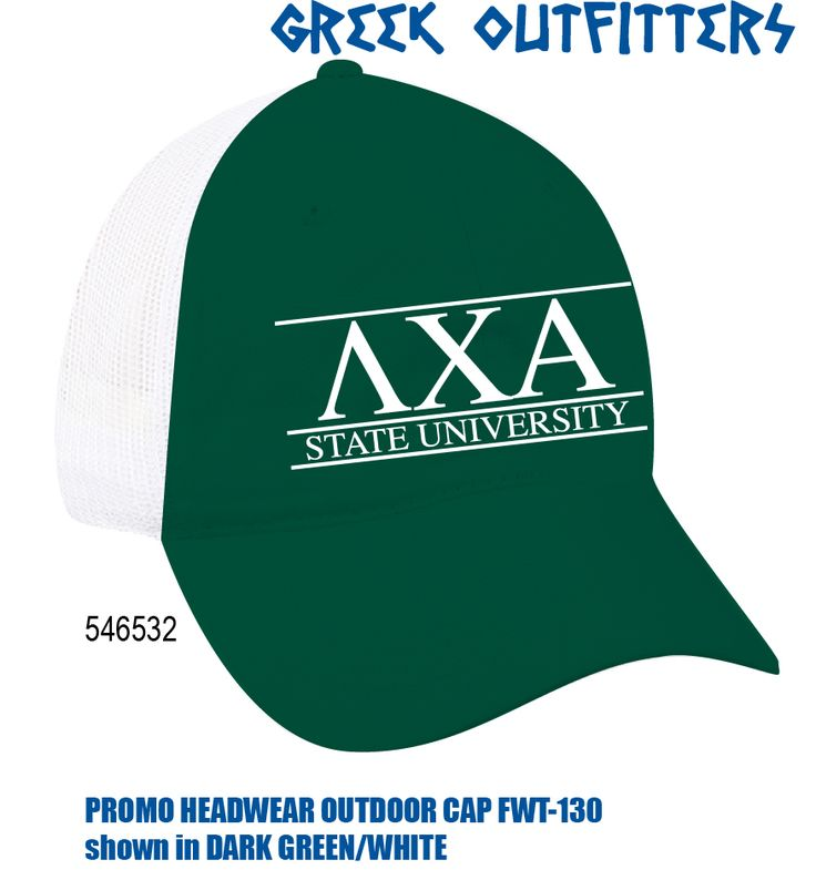 Greek Outfitters Lambda Chi Alpha Promo Headwear Outdoor Cap #grafcow