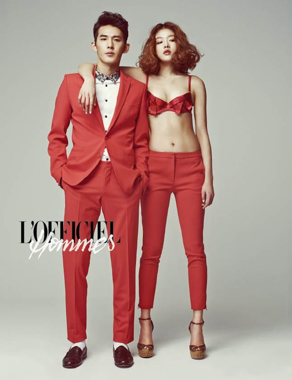 2013.03, L'Officiel Hommes, Oh Ahn, Choi Ah Ra